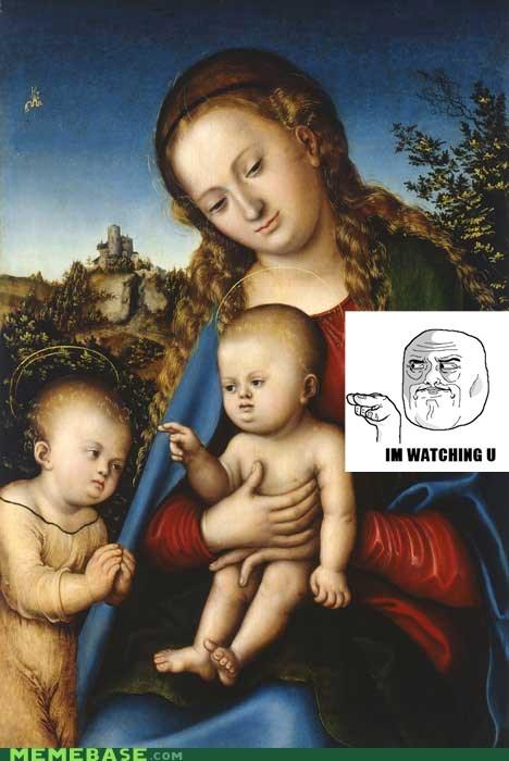 Babies betrayal jesus judas painting Rage Comics watching you - 5537633024