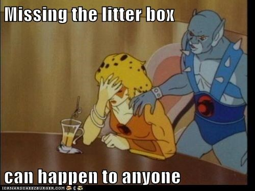 cheetara,embarassment,litter box,missing,panthro,thundercats
