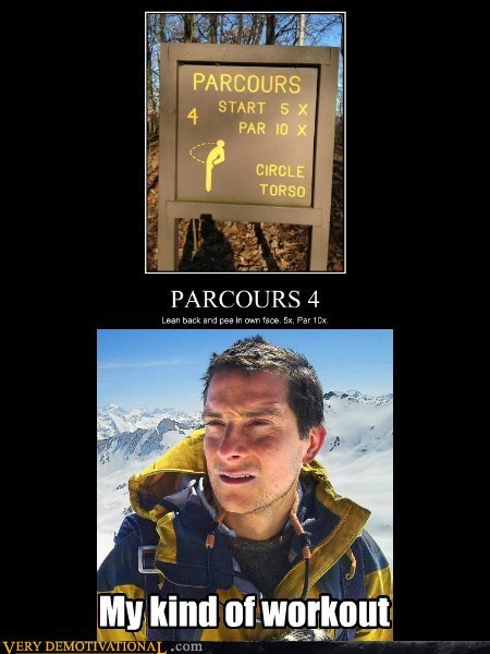 bear grylls,hilarious,piss,workout