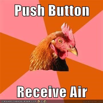 air anti joke chicken bacon button - 5537728768