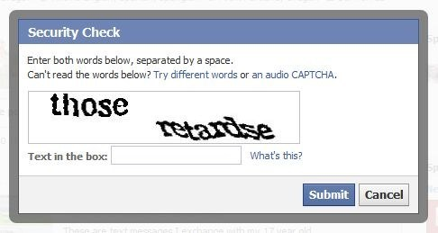 bad words captcha technology