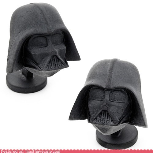 accessories black cufflinks darth vader mens-clothing star wars