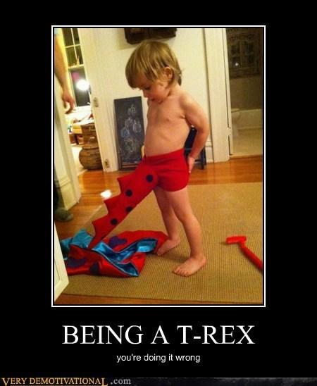 costume doing it wrong hilarious kid t rex wangz