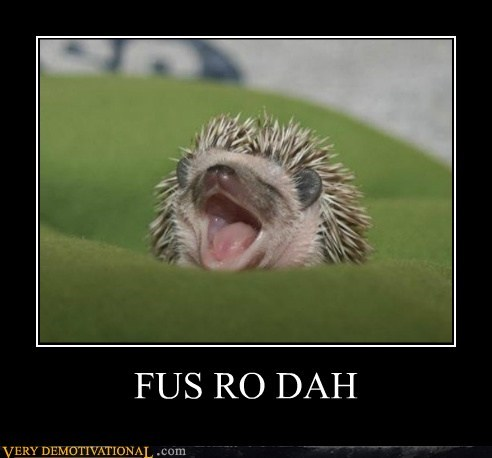 animals cute fus ro dah hedgehog hilarious Skyrim - 5539385344