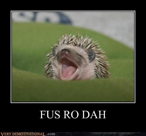 animals cute fus ro dah hedgehog hilarious Skyrim - 5539385344