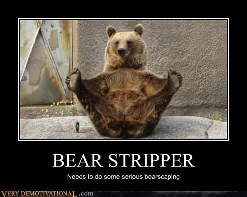 bear hilarious shaving stripper - 5539397120