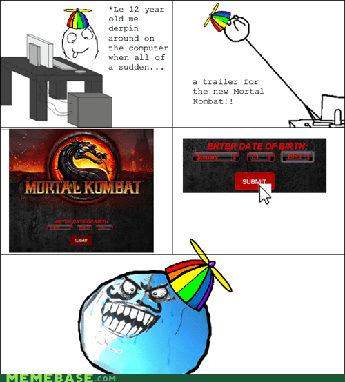 age restriction,date of birth,i lied,Rage Comics,trailers