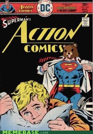 pedobear puns Super-Lols superman wtf - 5539577856