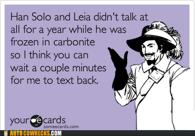 dating ecard Hall of Fame Han Solo leia relationships star wars - 5539824640