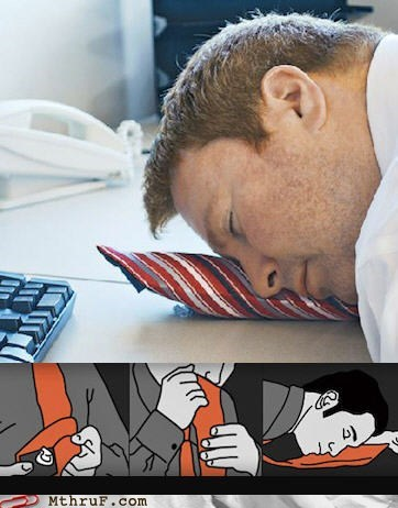 sleeping on the job tie pillow ties