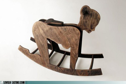 adult,girl,pony,rocking horse,woman,wood