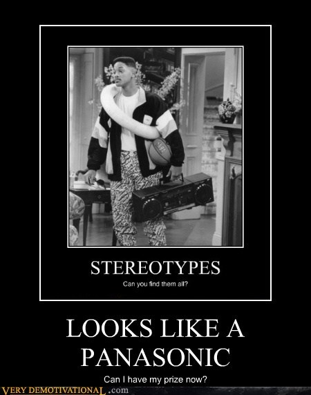 Fresh Prince of Bel-Air hilarious panasonic stereo stereotypes