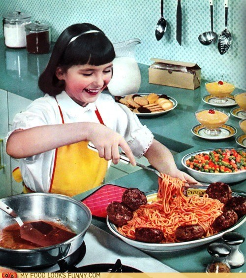 cooking,kid,kitchen,meatballs,spaghetti