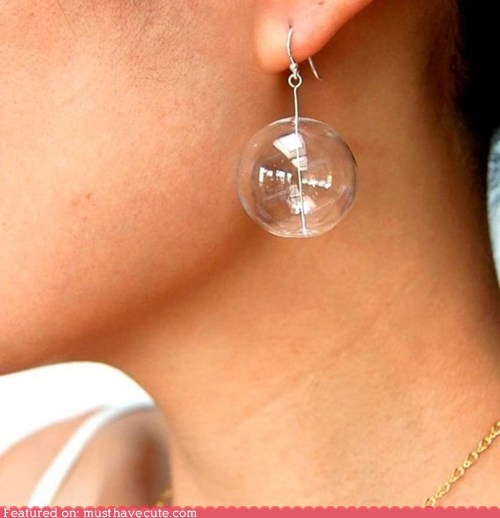 accessories bubble clear earrings glass Jewelry soap - 5540374784