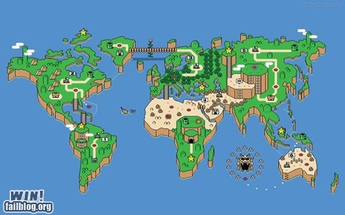 map mario nerdgasm nintendo snes Super Mario bros world map - 5540397056