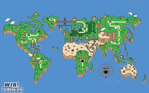 map mario nerdgasm nintendo snes Super Mario bros - 5540397056