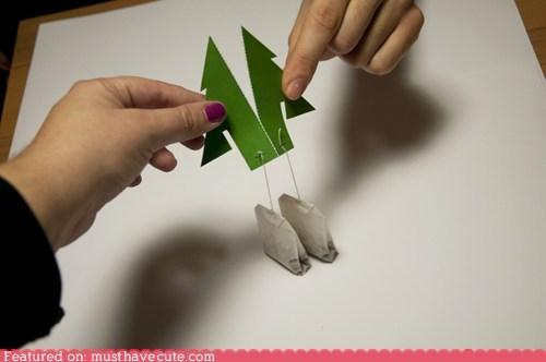 perforated tea teabags tree twins - 5540403456