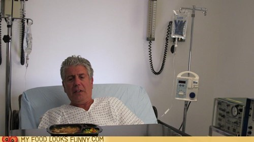 Anthony Bourdain food gross hospital sick