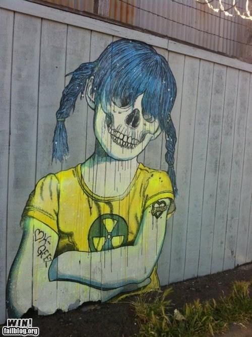 atomic bomb biohazard graffiti nuclear war radiation Street Art - 5540424704