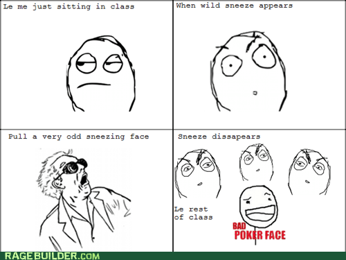 Awkward faces Rage Comics sneezes
