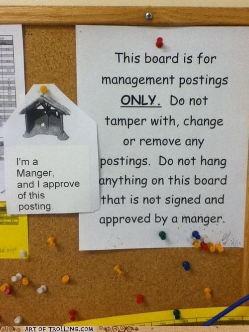 IRL manager manger sign spelling - 5540496128