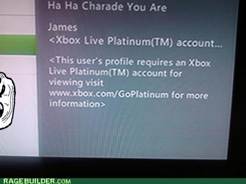 gold account platinum xbox live - 5540508928