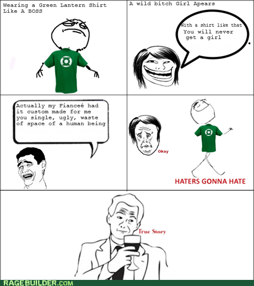 Green lantern haters gonna hate Rage Comics shirt women - 5540664832