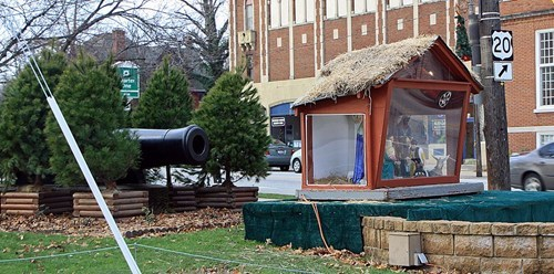 baby jesus,cannon,Hall of Fame,military,Nativity,religion,War on Christmas