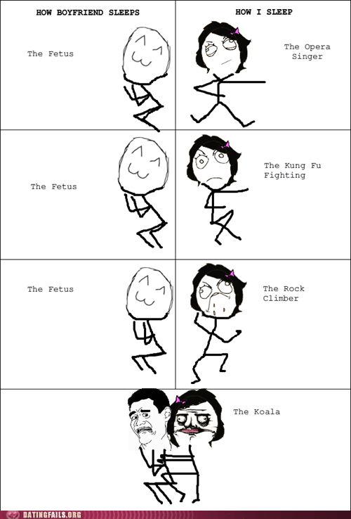 in bed positions rage comic sleep We Are Dating - 5540934144