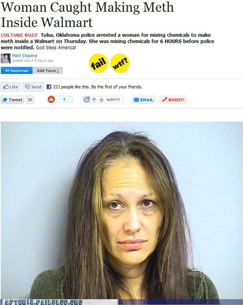 booze news drugs meth meth lab one-stop shopper wal mart