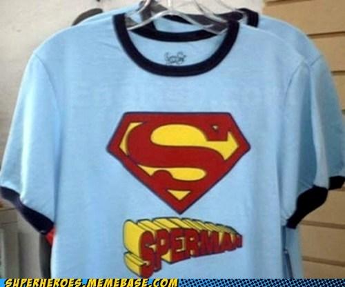 man goo Random Heroics spelling superman T.Shirt - 5541352192