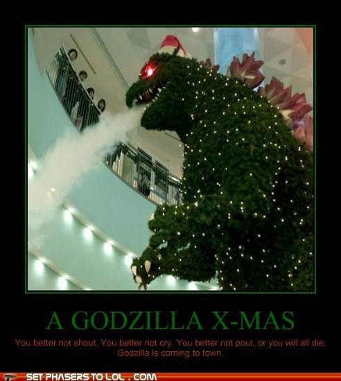 best of the week,christmas tree,godzilla,lizard-christmas,monster