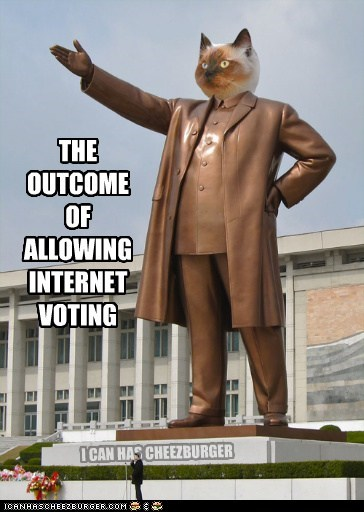 Cats internet political pictures statues voting - 5541479936