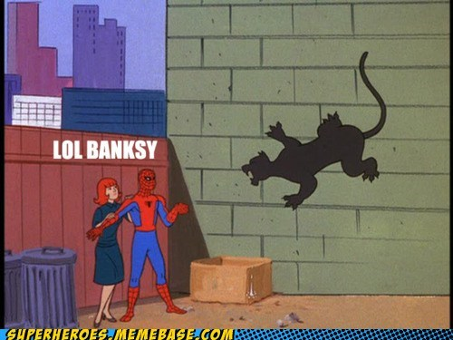 art banksy Spider-Man Super-Lols - 5541656576
