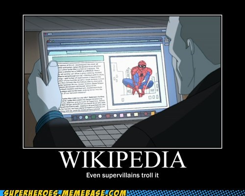 Spider-Man Superhero IRL Super-Lols supervillians trolling wikipedia - 5541789440