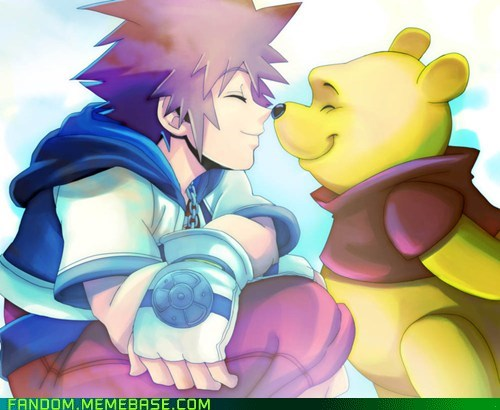Fan Art kingdom hearts pooh bear Sora video games - 5542031360