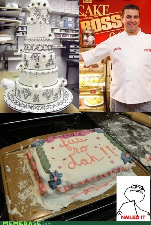 cake boss,fus ro dah,Nailed It,Skyrim,television,video games