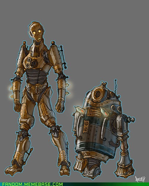 best of week C3PO Fan Art r2d2 star wars steam punk - 5543327744