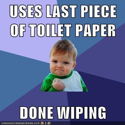 defecation fate success kid toilet paper - 5543504640