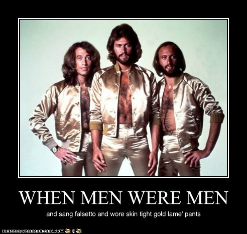 bee gees,disco,falsetto,fashion,lame,masculinity,men,Music,retro