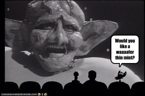 crow,mike nelson,mint,monty python,mst3k,Mystery Science Theatre,the meaning of life,tom servo