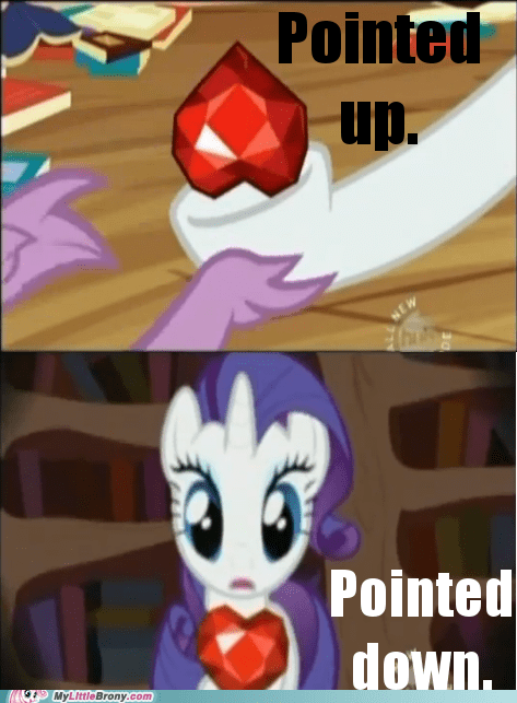 comics pointed down pointed up rarity red ruby spike - 5544296960