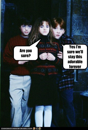 adorable,are you sure,Daniel Radcliffe,emma watson,forever,harry,Harry Potter,hermione granger,Ron Weasley,rupert grint