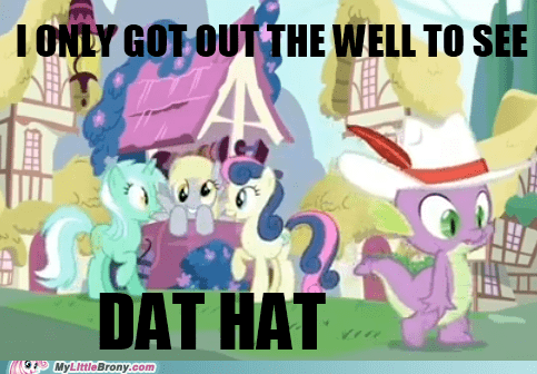 dat hat derpy hooves easter egg meme spike - 5544855552