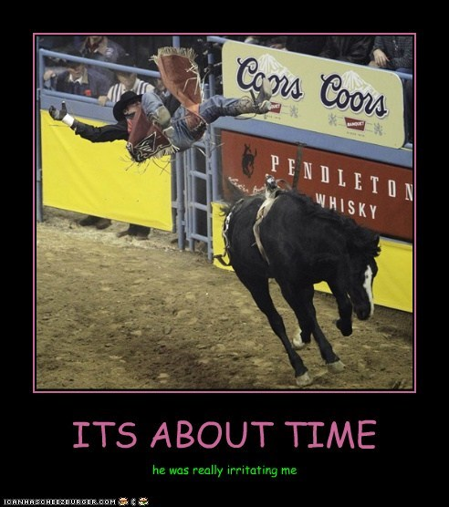 bucking bronco cowboy-horseback-riding get off its-about-time riding horse Up Next in Sports - 5546095872