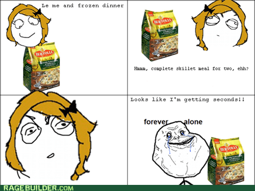 dinner,for two,forever alone,frozen,Rage Comics
