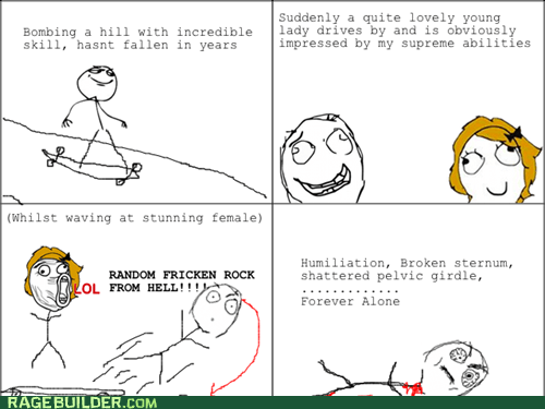 crash flirting longboarding Rage Comics - 5546342656