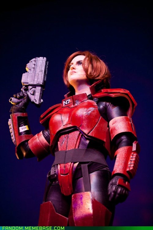 cosplay femshep mass effect video games - 5546429440