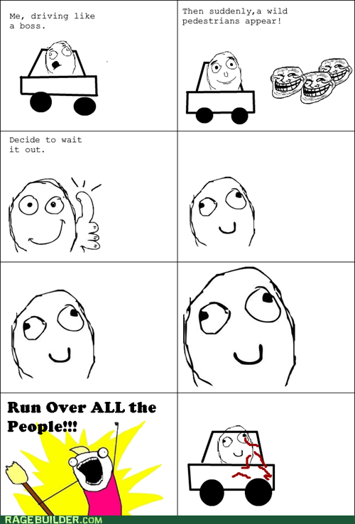 all the things cars driving Rage Comics - 5546481664