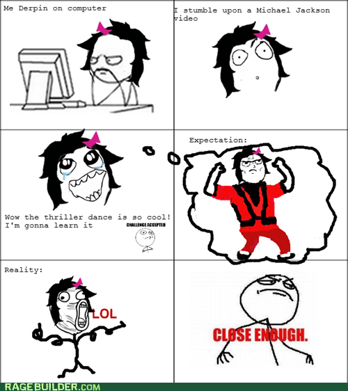dance,expectations vs reality,Rage Comics,thriller